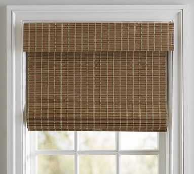 "Bali(R) Cordless Custom Natural Shade, Loft, 45 x 48"", Blackout - Pottery Barn"
