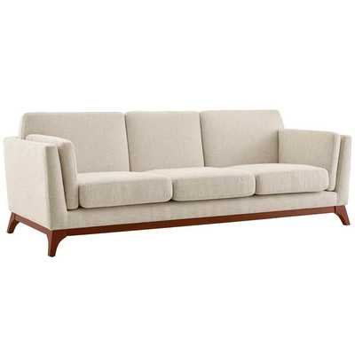 CHANCE UPHOLSTERED FABRIC SOFA IN BEIGE - LexMod