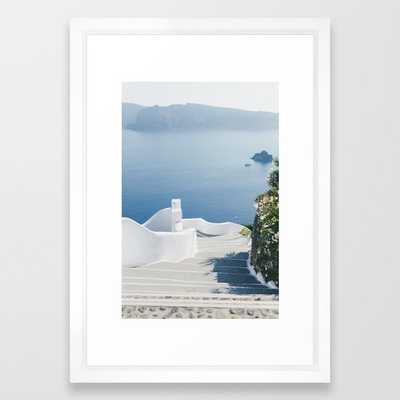 Santorini Stairs I (Vertical) Framed Art Print - Society6