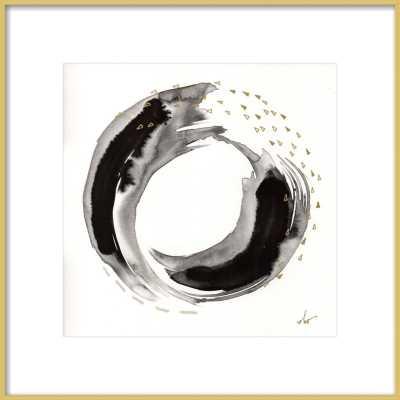 "1/14. 8.- Brass Frame 16"" x 16"" w/ matte 2.75"" - Artfully Walls"