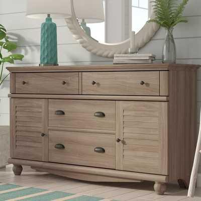 Pinellas 4 Drawer Combo Dresser - Salt Oak - Wayfair