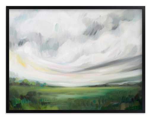 Mornings Away - 54x40 black wood frame - Minted