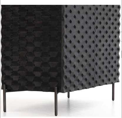 Raffael Bar Cabinet, Black - High Fashion Home
