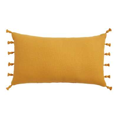Woven Tasseled Indoor Outdoor Lumbar Pillow - World Market/Cost Plus