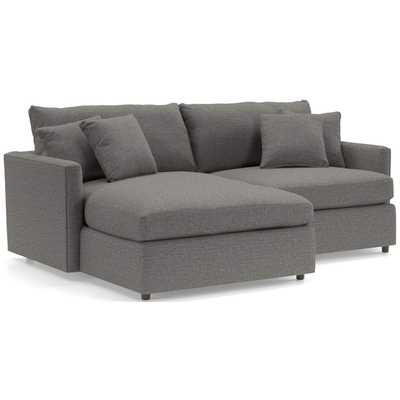 Lounge 2-Piece Small Space Sectional - Crate and Barrel