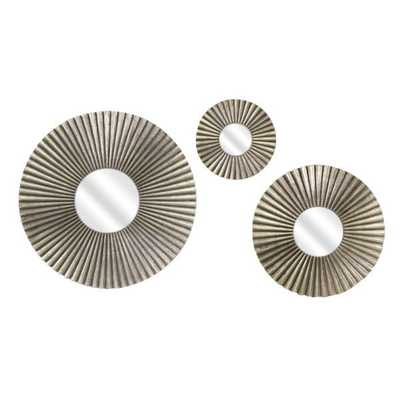 Piper Round Mirrors - Set of 3 - Mercer Collection