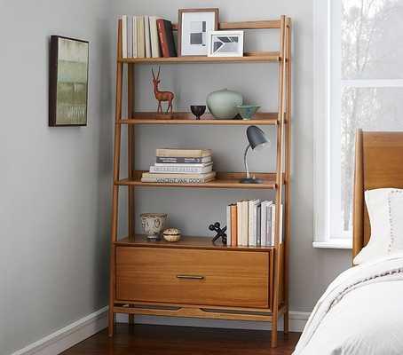 west elm x pbk Mid-Century Wide Tower Bookcase, Acorn - Pottery Barn Kids