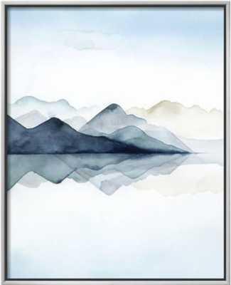 Glacial I - Framed Canvas - art.com