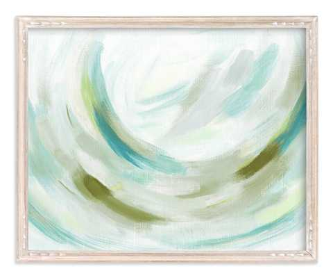"Lovely breeze- 20"" x 16"" Whitewashed Farmhouse Frame - Minted"
