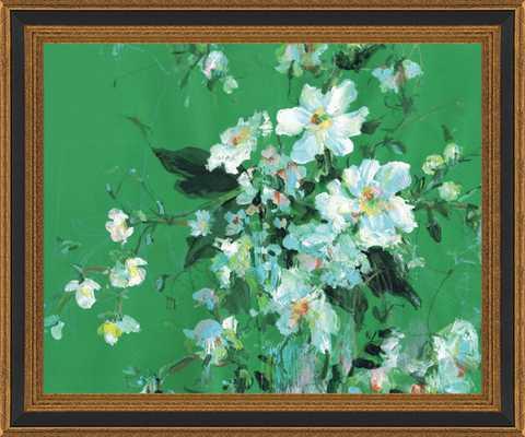 Arrangement in Green and White Framed Art Print - Artfully Walls