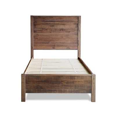 Montauk Standard Bed - Twin - Rustic Walnut - AllModern