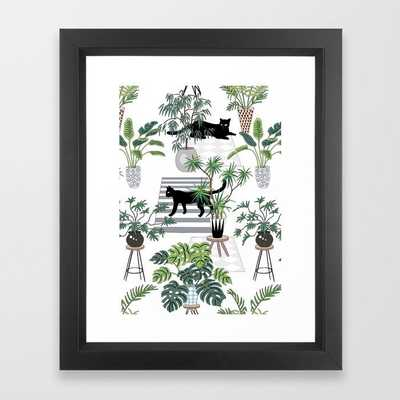 cats in the interior pattern - Society6