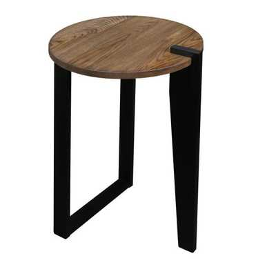 Sundial Contemporary Round End Table - Home Depot