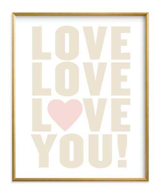 Love You! 16x20 - Minted