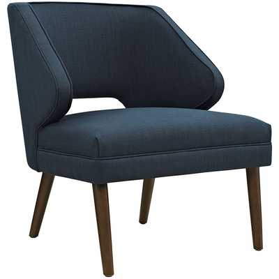 DOCK UPHOLSTERED FABRIC ARMCHAIR IN AZURE - Modway Furniture