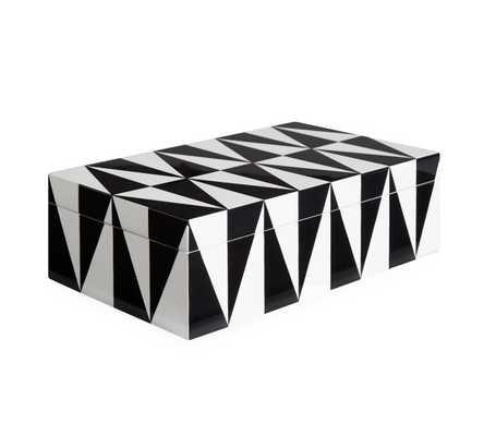Medium Op Art Lacquer Box - Burke Decor