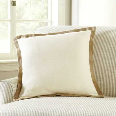 Shayna Jute Trim Pillow Cover - Wayfair