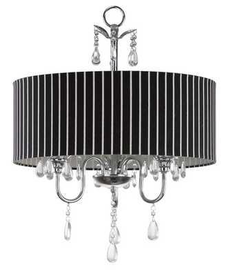 Abbeville 3 Light Beaded 18-Inch Dia Chandelier - Chrome - Arlo Home - Arlo Home