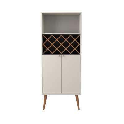 Lemington Bar Cabinet /  Off White/Maple Cream - Wayfair