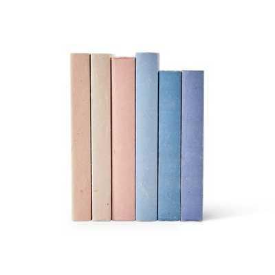 French Blue Parchment Decorative Books - Caitlin Wilson