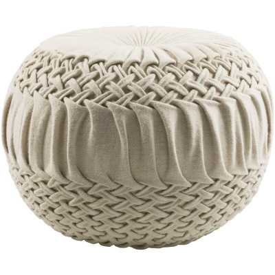 "Tracy 18"" Round Pouf - Wayfair"