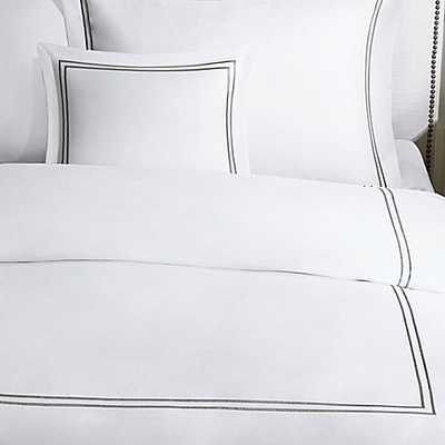 Madison Park Signature 1000-Thread-Count Embroidered King Duvet Cover Set in Grey - Bed Bath & Beyond