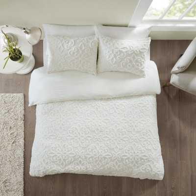 Keeney Tufted Cotton Chenille Duvet Cover Set - Wayfair