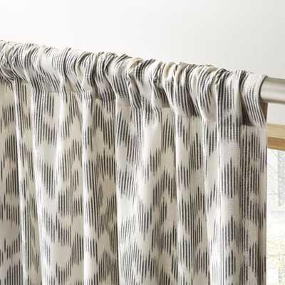 """Melfi Ikat Curtain Panel 48""""x84"""" - CB2"""