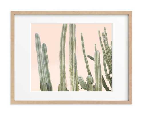 Peachy Cactus Print - Minted