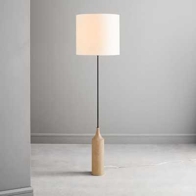 Hudson Floor Lamp, Wood - West Elm