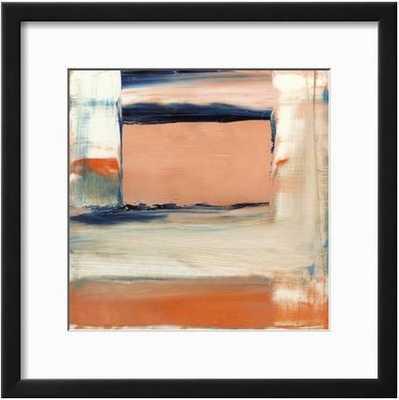"ORANGE & BLUE II By Sharon Gordon-19"" x 19"" Framed Art Print - art.com"