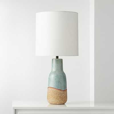 Tempe Teal Terracotta Table Lamp - CB2