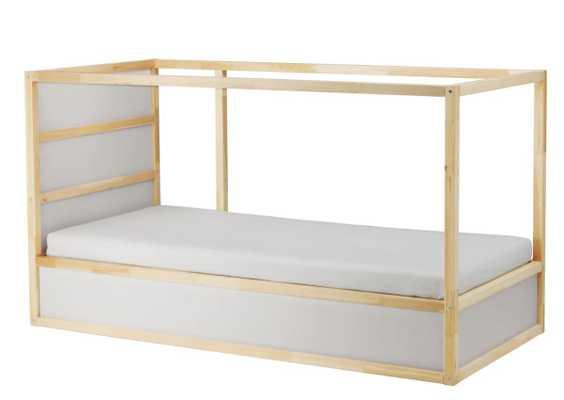 KURA Reversible bed, white, pine, Twin - Ikea