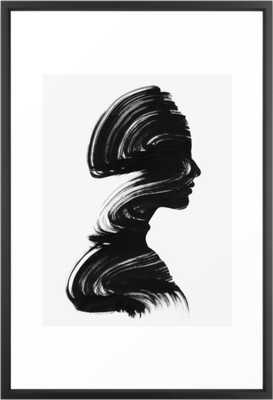 See Framed Art Print - Vector Black - Large 26 x 38 - Society6