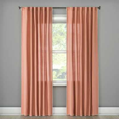 Stitched Edge Curtain Panel - Threshold™ - Target
