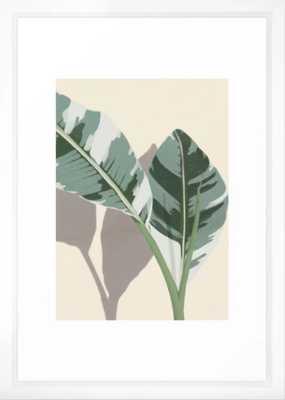 """Banana Leaves Framed Art Print 15"""" x 21"""" vector white frame - Society6"""