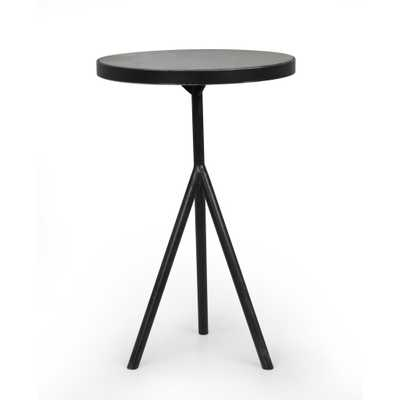 Corin End Table in Powder Black by BD Studio - Burke Decor