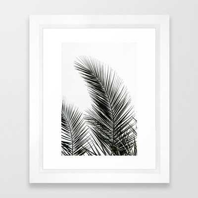 Palm Leaves Framed Art Print - 10x12 - vector white frame - Society6