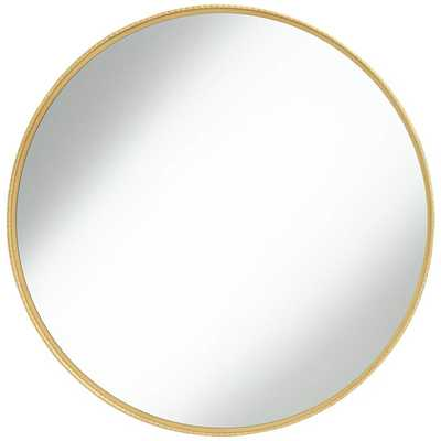 "Cally Gold 31 1/2"" Round Metal Wall Mirror - Style # 76A82 - Lamps Plus"