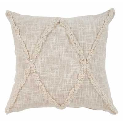 Carlton Khaki Diamonds Natural 20 in. x 20 in. Indoor Throw Pillow - Home Depot