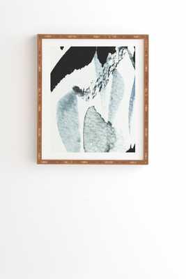 """ABSTRACTM5 Wall Art - 19"""" x 22.4"""" - Natural Bamboo Frame - Wander Print Co."""