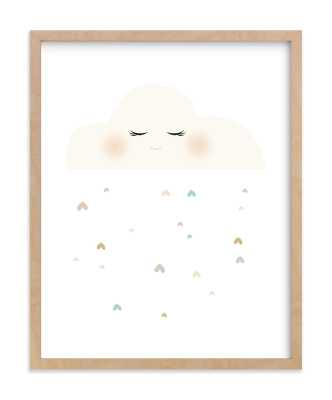 Miss Cloud, 11x14, Natural Raw Wood Frame - Minted