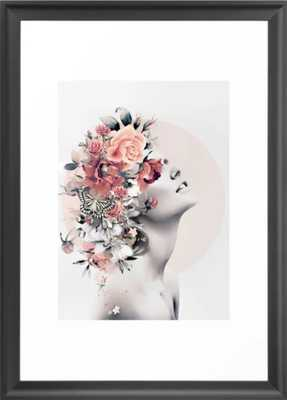 Bloom 7 Framed Art Print - 15X21  VECTOR BLACK - Society6