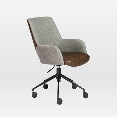Two-Toned Upholstered Office Chair - West Elm
