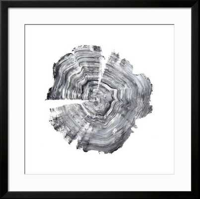 "Tree Ring Abstract IV / Neuhaus Black Frame / Crisp - Bright White 3.5"" Mat / Total Size 39.5"" x 39.5"" / - art.com"