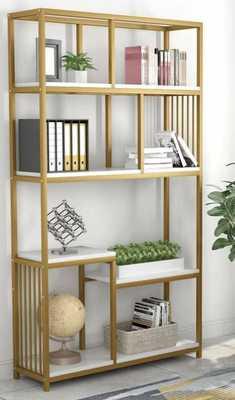 Drennan Geometric Bookcase - Wayfair