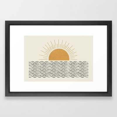 Sunrise Ocean - Mid Century Modern Style Framed Art Print by MoonlightPrint - Society6
