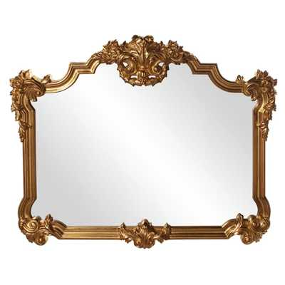Allan Andrews Avondale Bright Gold Leaf Resin Wall Mirror - Overstock