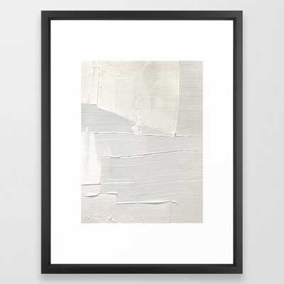 Relief [1]: an abstract, textured piece in white by Alyssa Hamilton Art Framed Art Print - Society6