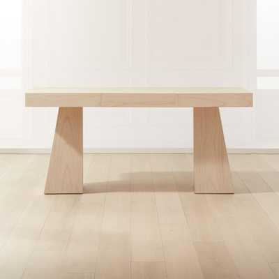Ridge Bleached Oak Desk - CB2